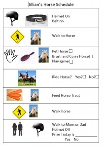 Jillian's horse schedule pic