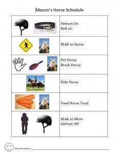 Mason horse schedule